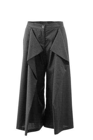 Shop Emerging Contemporary Womenswear Brand Studio Karro Pinstripe Trousers at Erebus
