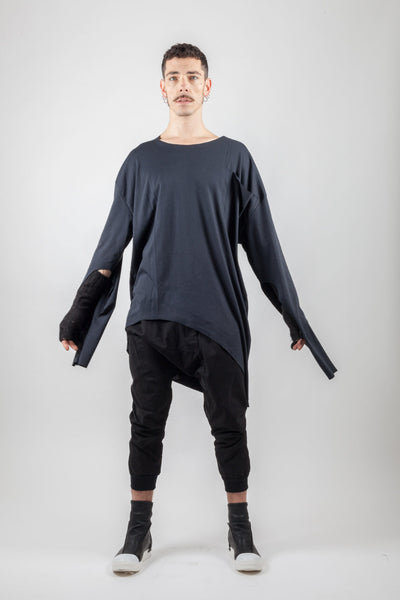 Shop Emerging Avant-garde Genderless Brand XCONCEPT Black Laces Over Top at Erebus