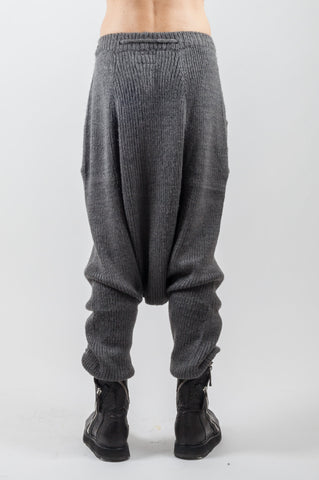 Shop Emerging Genderless Brand XCONCEPT Black Wool Knit Pants at Erebus