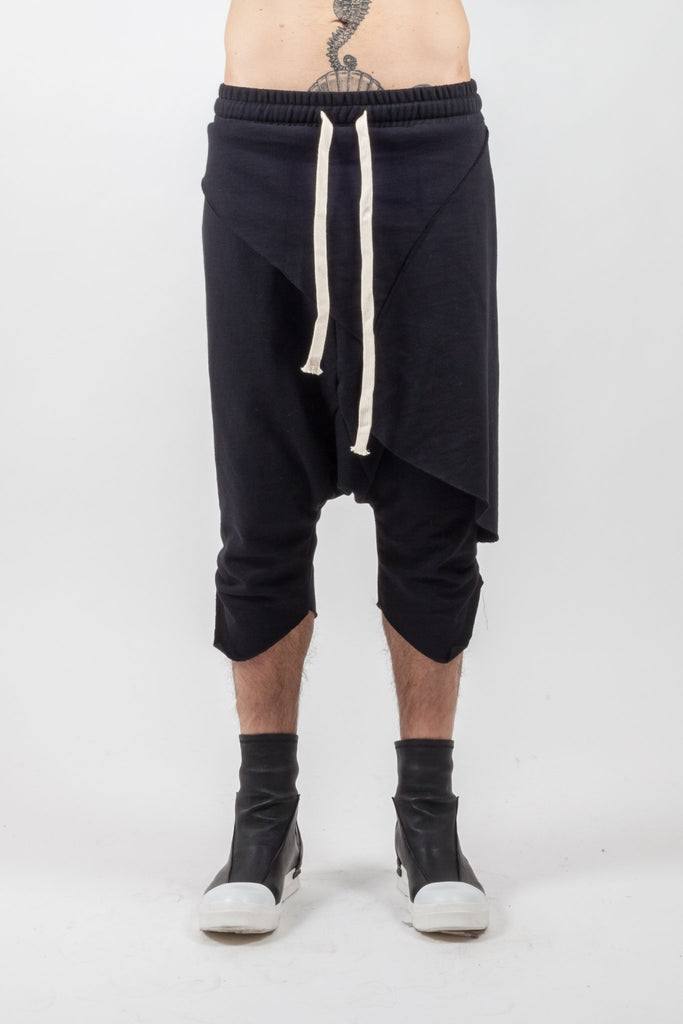 Shop Emerging Genderless Brand XCONCEPT Black Drawstring Cotton Pants at Erebus