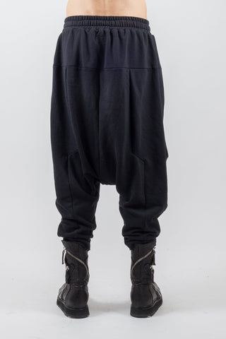 Shop Emerging Genderless Brand XCONCEPT Black Drawstring Cotton Panel Pants at Erebus