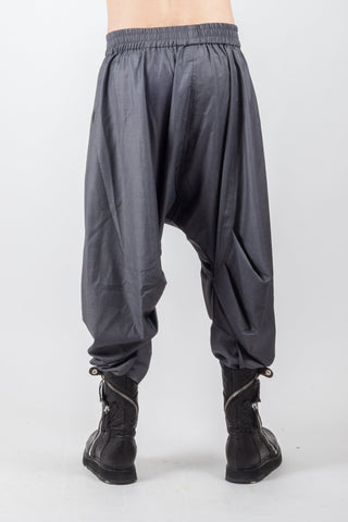 Shop Emerging Genderless Avant-garde Brand XCONCEPT Dark Grey Ballot Posh Pants at Erebus