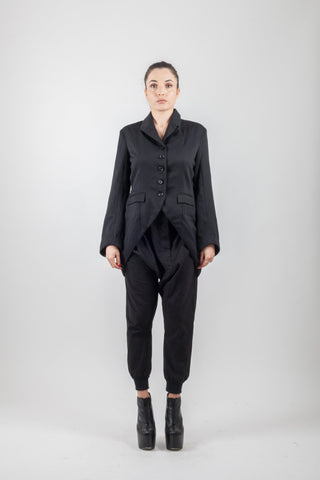 Shop Emerging Avant-garde Brand XCONCEPT Black Scout Posh Jacket at Erebus