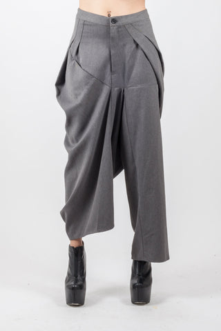 Shop Emerging Genderless Brand XCONCEPT Grey Storm Avant-garde Pants at Erebus