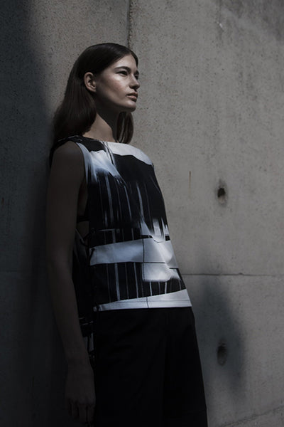 Shop Emerging Slow Fashion Futuristic Unisex Brand Fuenf Fractal Top at Erebus
