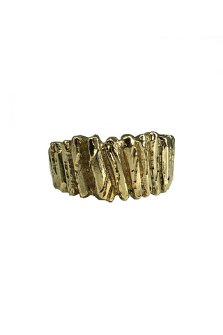 Shop Emerging Avant-garde Jewellery Brand Relics by Geo Bronze Pillars Ring at Erebus