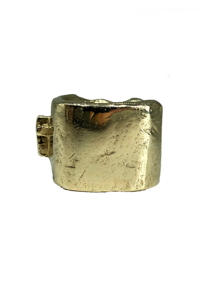 Shop Emerging Avant-garde Jewellery Brand Relics by Geo Bronze Cross Ring at Erebus