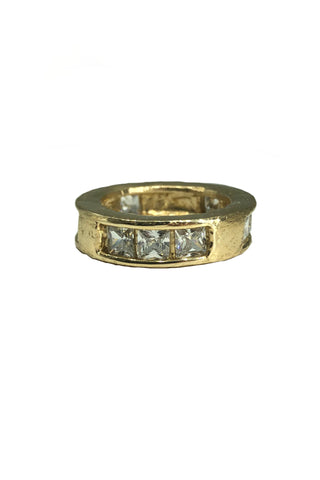 Shop Emerging Avant-garde Jewellery Brand Relics by Geo Bronze and Cubic Zirconia Capital Small Ring at Erebus