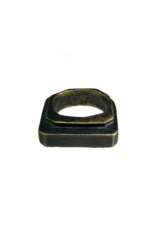 Shop Emerging Avant-garde Jewellery Brand Relics by Geo Blackened Bronze Amenty Key Ring at Erebus