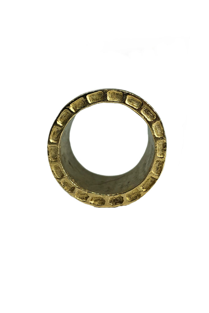 Shop Emerging Avant-garde Jewellery Brand Relics by Geo Bronze Aten Large Ring at Erebus
