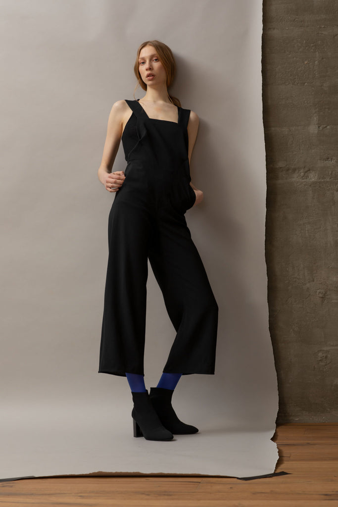 Shop Emerging Dark Luxury Avant-garde Designer Pavlina Jauss Antitheses Collection [Black] White Jumpsuit at Erebus