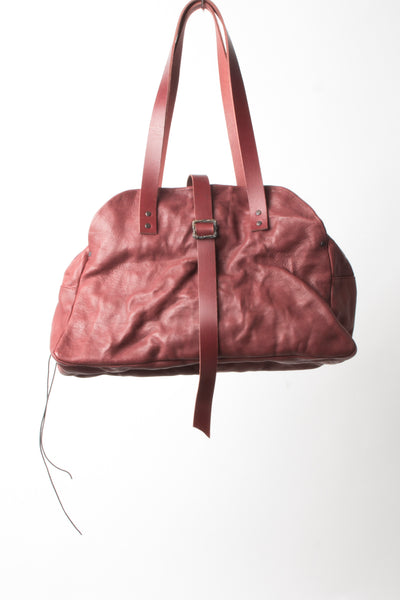 Shop Emerging Slow Fashion Avant-garde Artisan Leather Brand Gegenüber Black Kluft 2 Doctor Bag at Erebus