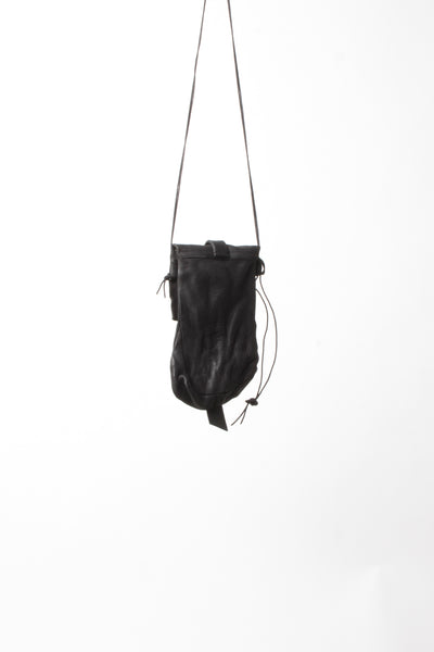 Shop Emerging Slow Fashion Avant-garde Artisan Leather Brand Gegenüber Black Reise 2 Everyday Bag at Erebus