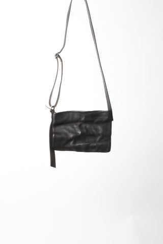 Shop Emerging Slow Fashion Avant-garde Artisan Leather Brand Gegenüber Black Woge Bum Bag at Erebus