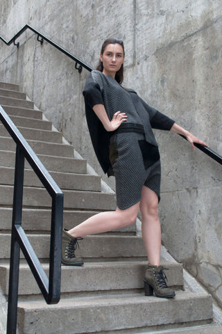 Shop Emerging Conscious Avant-garde Gender-free Brand Supramorphous Thick Black Blouse at Erebus