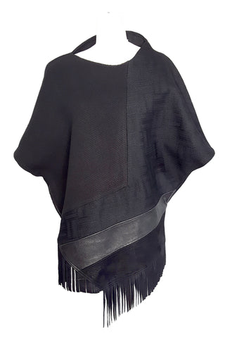 Shop Emerging Conscious Avant-garde Gender-free Brand Supramorphous Black Structure S02 Tunic Top at Erebus