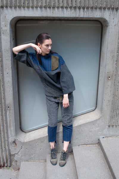 Shop Emerging Conscious Avant-garde Gender-free Brand Supramorphous Wool Geo Pullover at Erebus