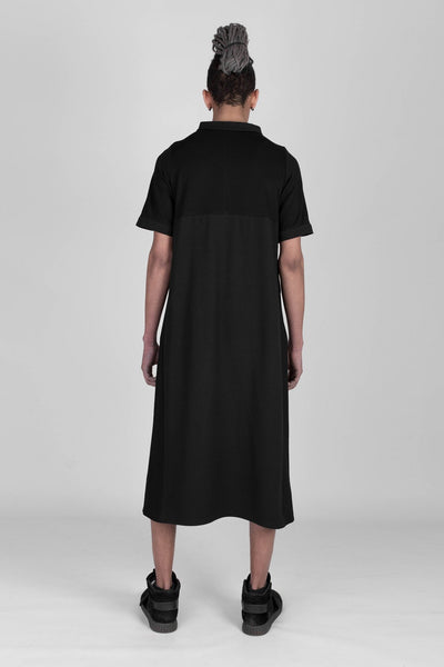 Shop emerging designer Fuenf black Futuristic Midi Dress - Erebus