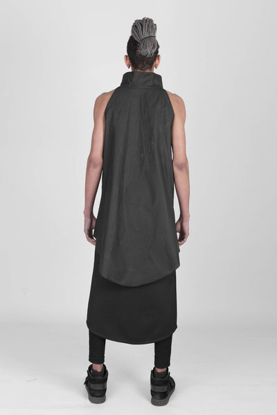 Shop emerging designer Fuenf black unisex sleeveless Urban vest - Erebus