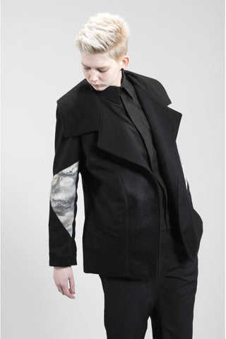 Shop Emerging Contemporary Womenswear Brand Studio Karro Moon Felt Jacket at Erebus