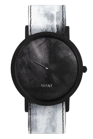 Shop emerging avant-garde accessory brand South Lane White Hand-painted Avant Diffuse Watch at Erebus