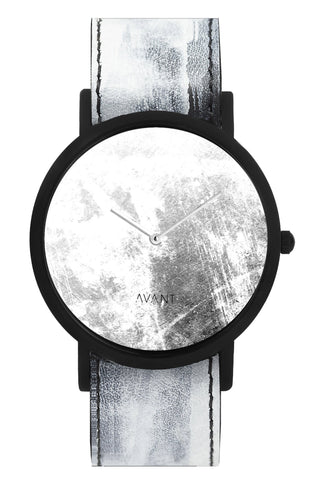 Shop emerging avant-garde accessory brand South Lane White Hand-painted Avant Diffuse Invert Watch at Erebus