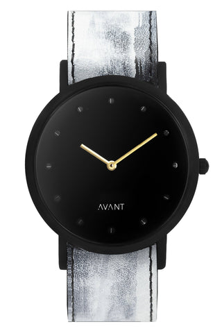 Shop emerging avant-garde accessory brand South Lane White Hand-Painted Avant Pure Watch at Erebus