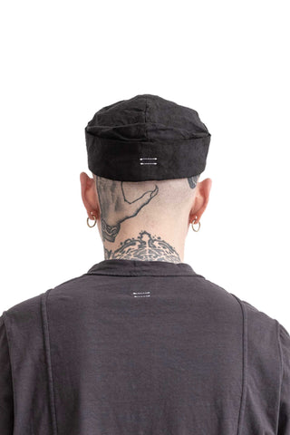 Shop Conscious Modern Menswear Designer Sandro Marzo Spring Summer 2021 Collection Black A1-30 Cotton Hat at Erebus