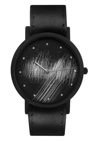 Shop emerging avant-garde accessory brand South Lane Black Avant Surface Watch at Erebus