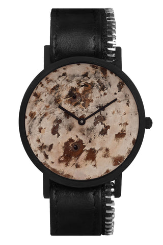 Shop emerging avant-garde accessory brand South Lane Avant Distinguished Black Zip Watch at Erebus
