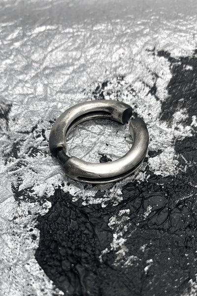Shop Emerging Slow Fashion Avant-garde Jewellery Brand OSS Haus MSKRA Collection Silver Zogok Ear Cuff at Erebus