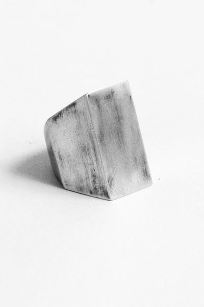 Shop Emerging Slow Fashion Avant-garde Jewellery Brand OSS Haus Awakening Collection Silver Academia Ring at Erebus