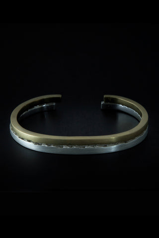 Shop emerging slow fashion unisex jewellery brand Møsaïs Silver and Gold Accumulation #5 Bracelet Set - Erebus