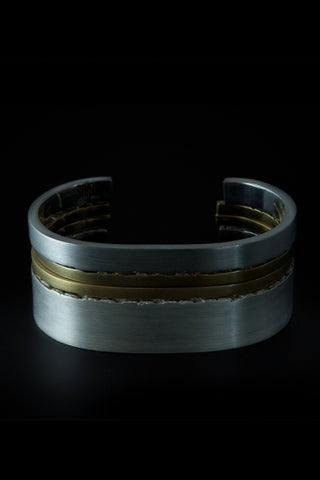 Shop emerging slow fashion unisex jewellery brand Møsaïs Silver and Gold Accumulation #6 Bracelet Set - Erebus