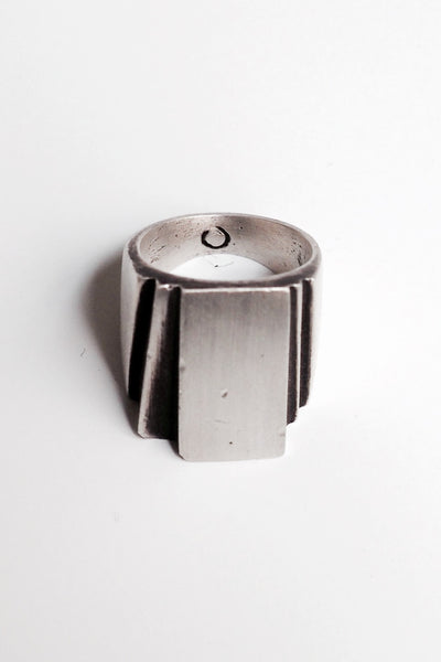 Shop Emerging Slow Fashion Avant-garde Jewellery Brand OSS Haus Silver Alexis Ring at Erebus