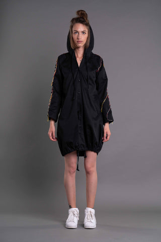 Shop Emerging Dark Conceptual Brand Anagenesis Albedo Collection Black Breach Jacket at Erebus