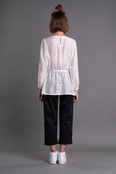 Shop Emerging Dark Conceptual Brand Anagenesis Albedo Collection White B-Top at Erebus