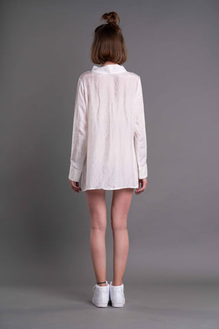 Shop Emerging Dark Conceptual Brand Anagenesis Albedo Collection White ID-Top at Erebus
