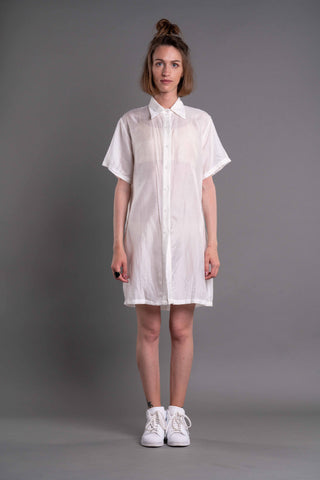 Shop Emerging Dark Conceptual Brand Anagenesis Albedo Collection White D-Shirt at Erebus