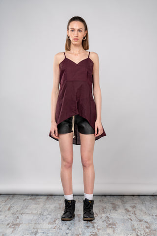 Shop emerging dark conscious fashion genderless brand Anoir by Amal Kiran Jana Flared Tail Tank at Erebus