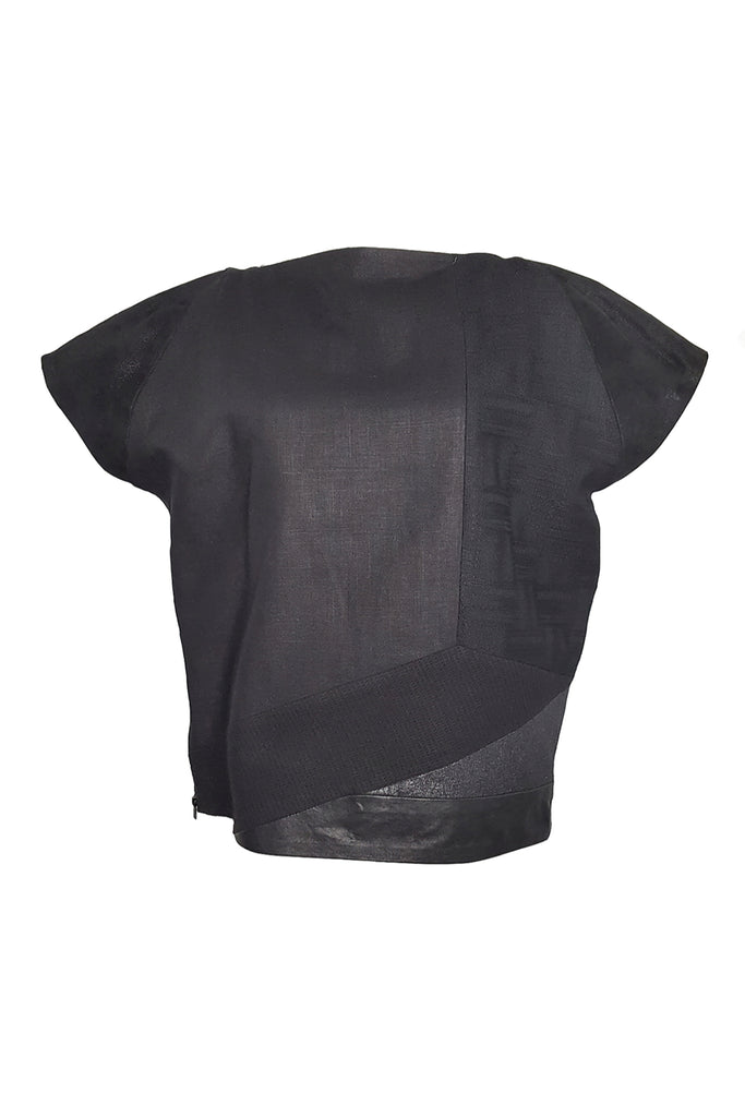 Shop Emerging Conscious Avant-garde Gender-free Brand Supramorphous Black Structure S03 Top at Erebus