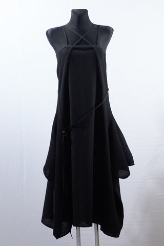 Shop Emerging Dark Luxury Avant-garde Designer Pavlina Jauss Mythology Collection Black Aphrodite Dress at Erebus