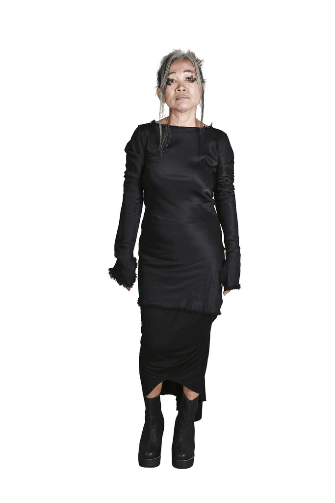 Shop Emerging Slow Fashion Genderless Avant-garde Designer Mark Baigent Rhiannon Collection Albatross Shirt at Erebus