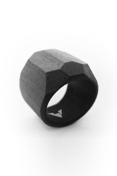 Shop Emerging Men's Jewellery Brand Bazelet Black Asgard RAW Ring at Erebus