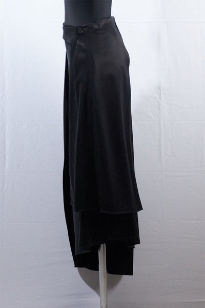 Shop Emerging Dark Luxury Avant-garde Designer Pavlina Jauss Mythology Collection Black Athen Skirt at Erebus