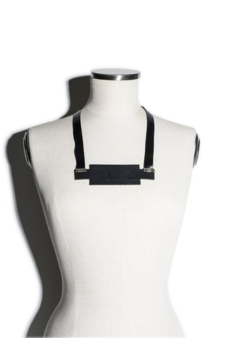 Shop emerging slow fashion accessory brand Aumorfia IASIS Collection Black Leather Depolo Necklace at Erebus