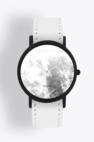 Shop emerging avant-garde accessory brand South Lane Avant Diffuse Invert Watch White - Erebus