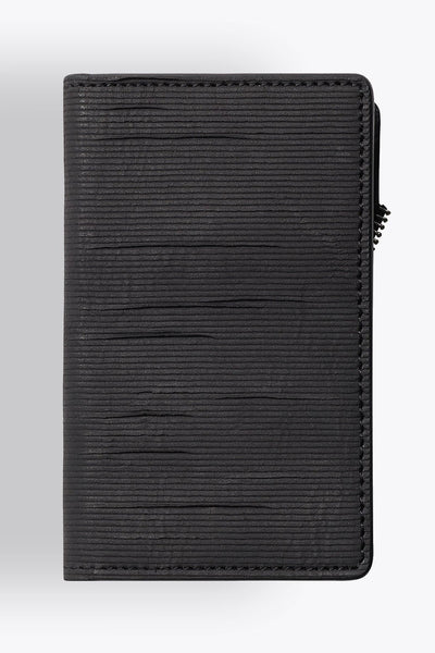 Shop emerging avant-garde accessory brand South Lane Avant Raw Black Leather Wallet - Erebus