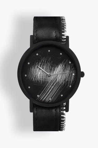 Shop emerging avant-garde accessory brand South Lane Avant Surface Black Zip - Erebus