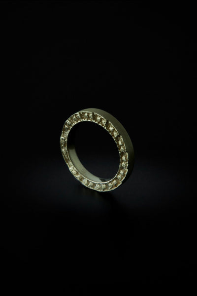 Shop emerging slow fashion unisex jewellery brand Møsaïs Gold Broken Ring S - Erebus